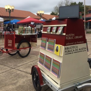 Unbound, the Austin Public Library Bookbike, was launched November 2015