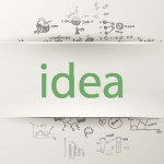 the word idea with formulas