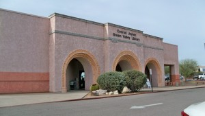 Exterior of Joyner-Green Valley Library from an angle