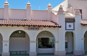 exterior of the salazar ajo library