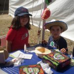 Kids doing crafts at Tucson Festival of Books
