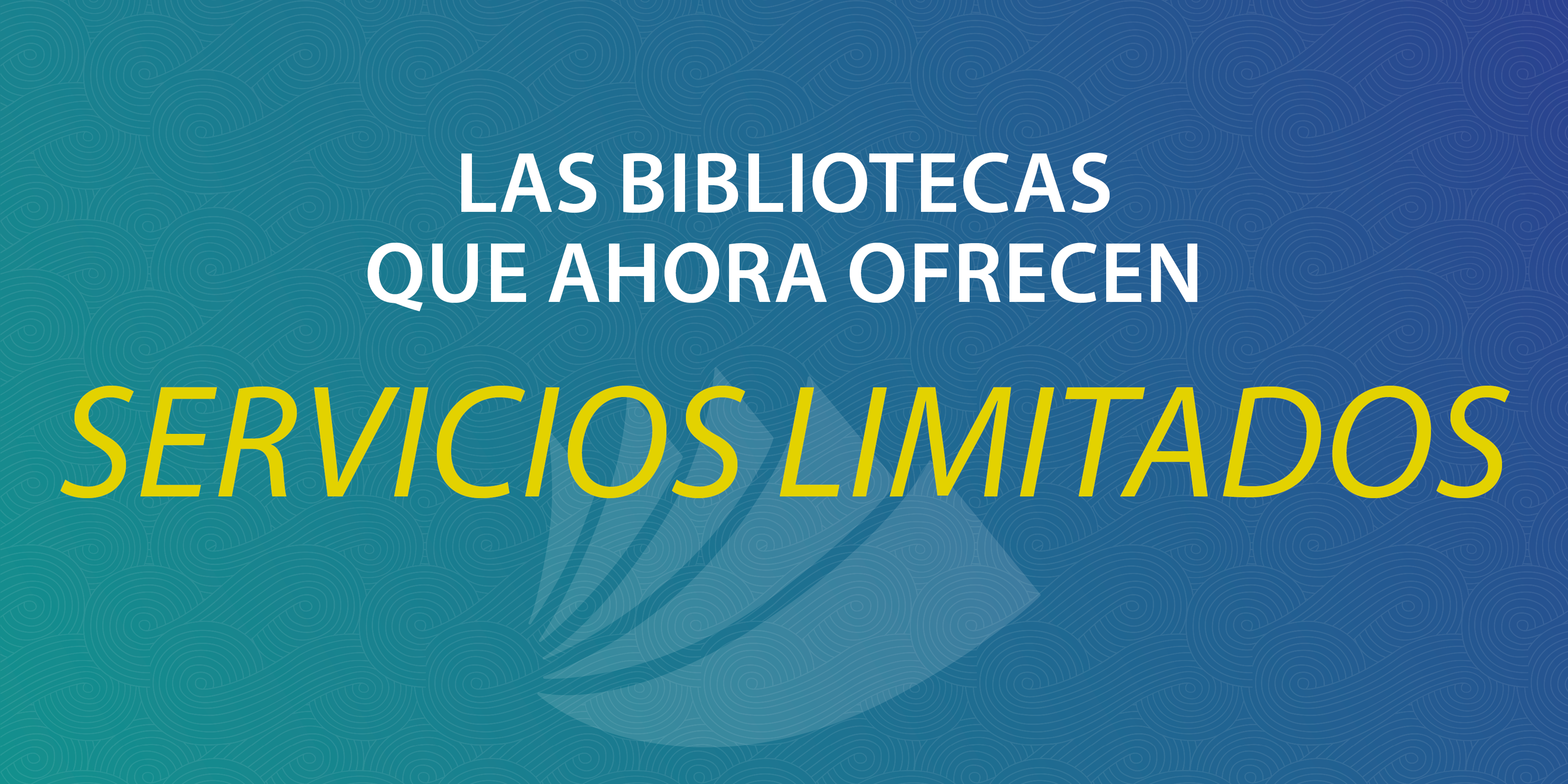 Spanish Libaries offering limited service 890X445