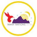 Many Nations logo in yellow circle