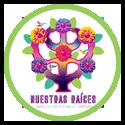Nuestra Raices NR logo in green circle