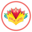 Biblio Lotus logo in pink circle