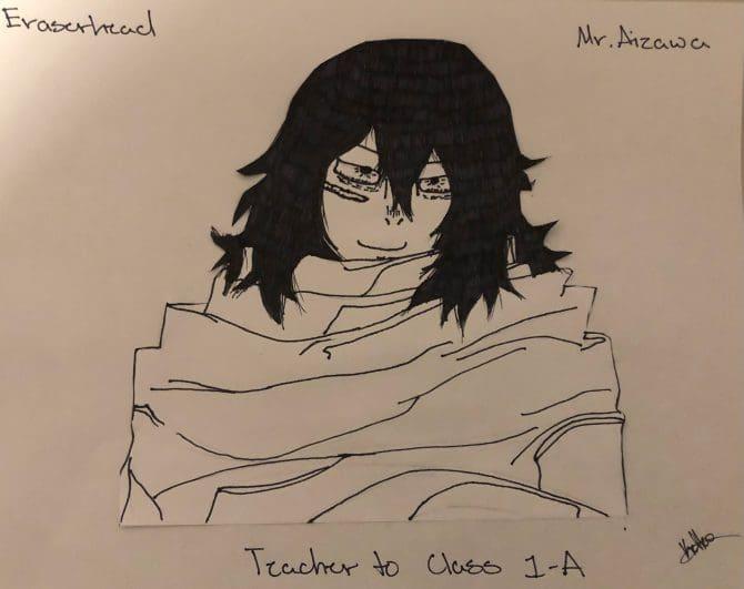 Michaela V - Fan Art inspired by Eraserhead - Mr Aizawa