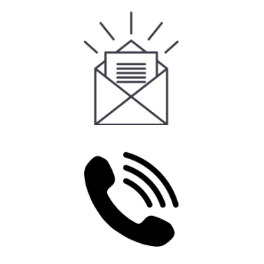 Email Icon and Phone Icon