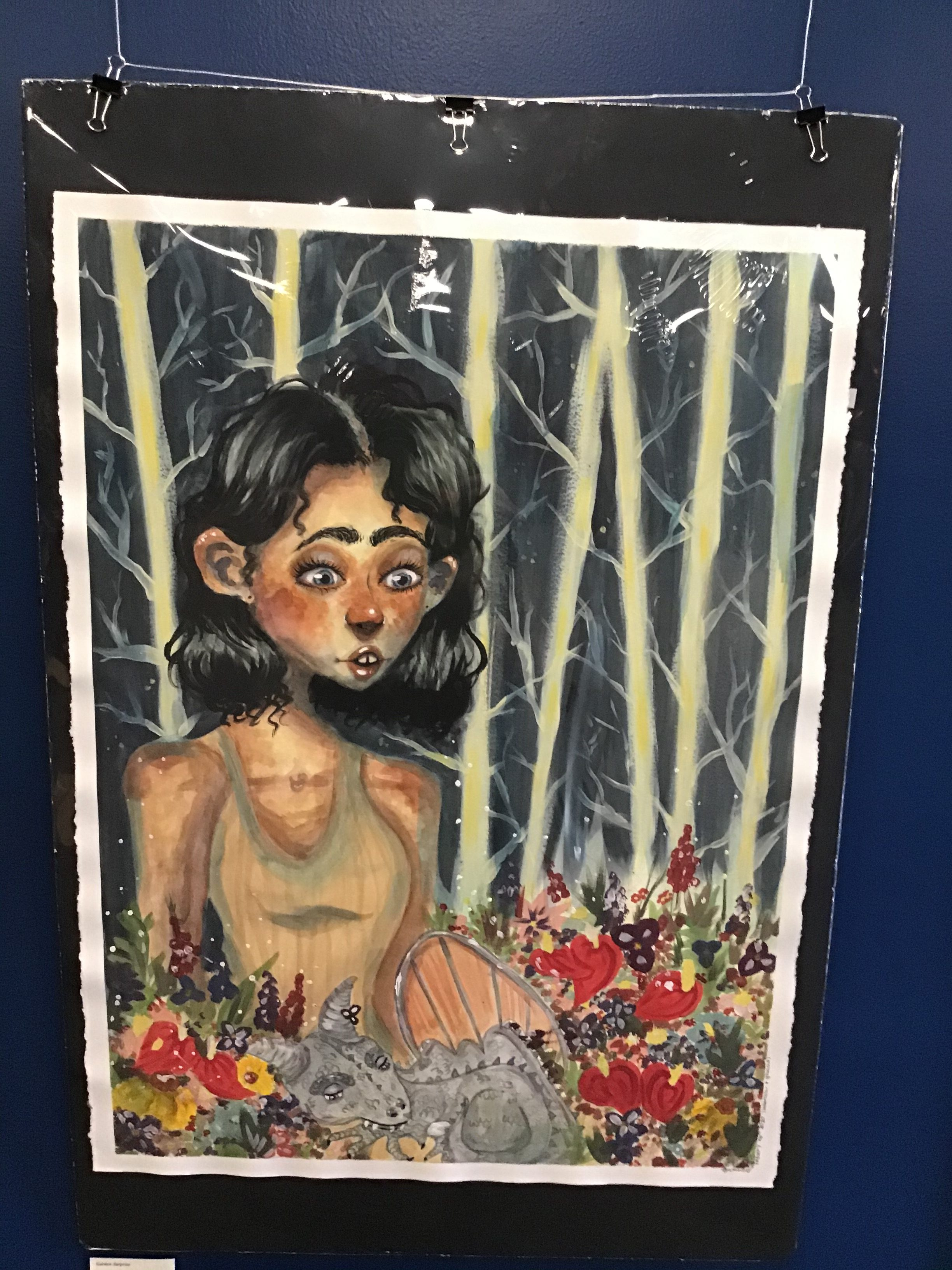 2nd Place: Mya Rivard - Grade 9 - Homeschool - Garden Surprise