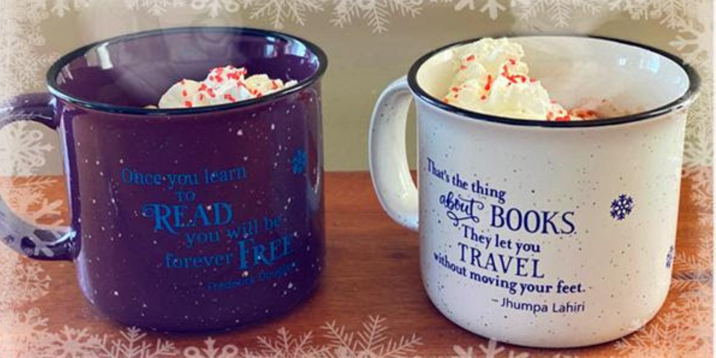 Adult Winter Reading Challenge mug prizes