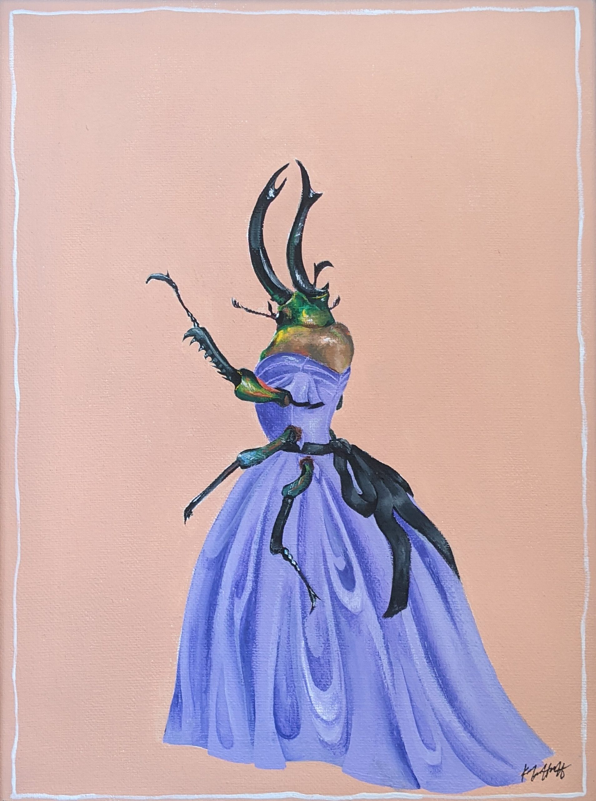 """Grades 9-10, """"Untitled (Beetle in a Dress)"""" by Keiko Huff"""