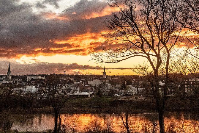 Fredericksburg River Sunset