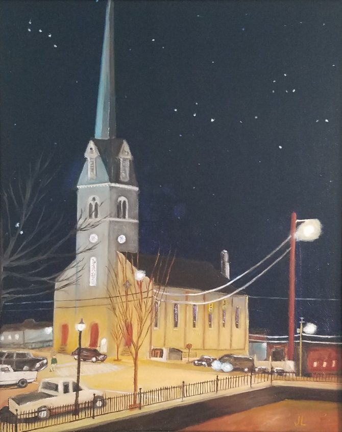 St. George's Episcopal Church at Night