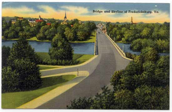 Bridge and Skyline of Fredericksburg, Va.