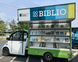 Go Go Biblio with side open