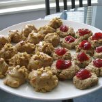 Maple spice cookies and thumbprint cookies
