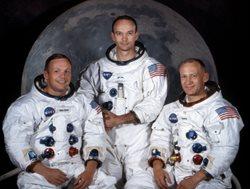 Apollo 11 crew:  Neil Armstrong, Michael Collins and Buzz Aldrin.