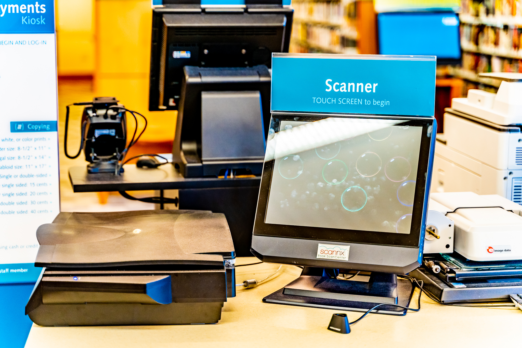 Scannx BookScan Center with flatbed scanner