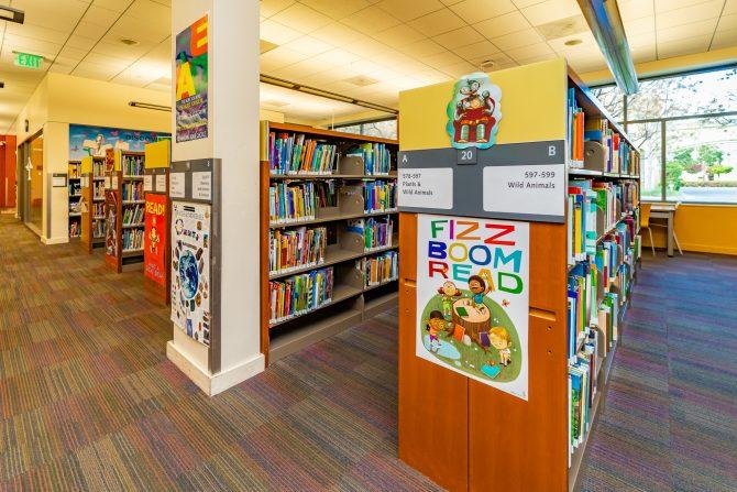Cupertino Library Downstairs Children's Books