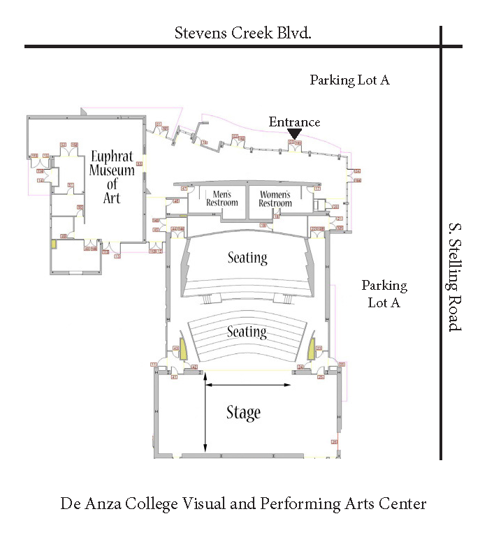 De Anza College Visual and Performing Arts Center Map