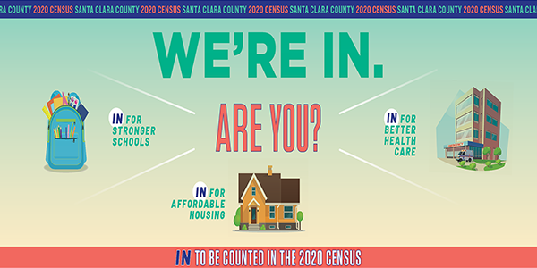 We're in. Are you? In for stronger schools. In for affordable housing. In for better health care. In to be counted in the 2020 Census.
