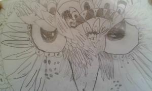 Angry Zentangle Owl