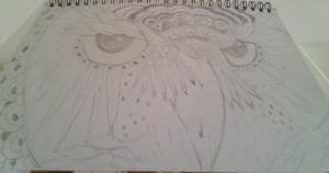 Zentangle Owl