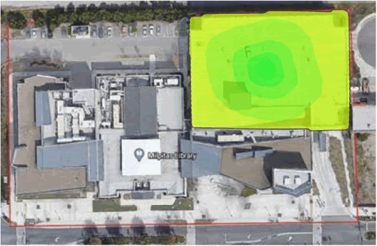Milpitas Wi-Fi Coverage Area