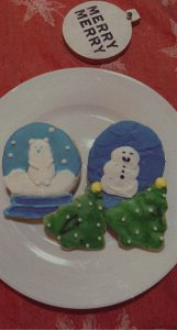 Snow Globe and Christmas Tree Cookies