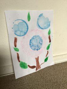 Bubble Paint Flower