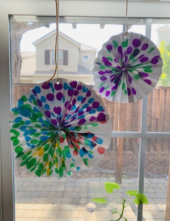 Watercolor Paper Pinwheels - Spin! Dots. Spin!