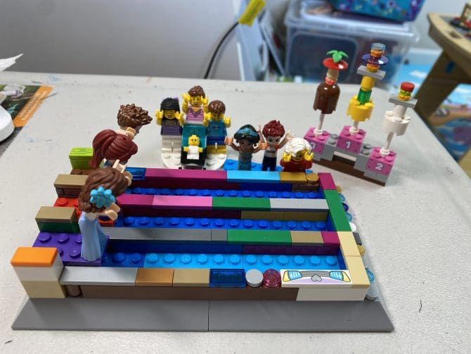 Olympic Swimming Game Lego