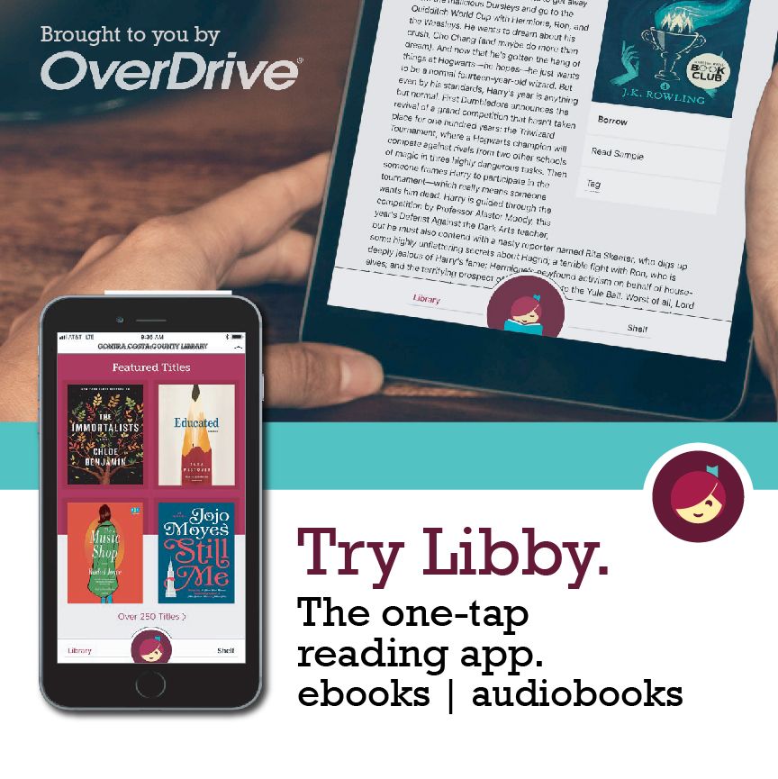 Try Libby. The one-tap reading app. for ebooks and audiobooks