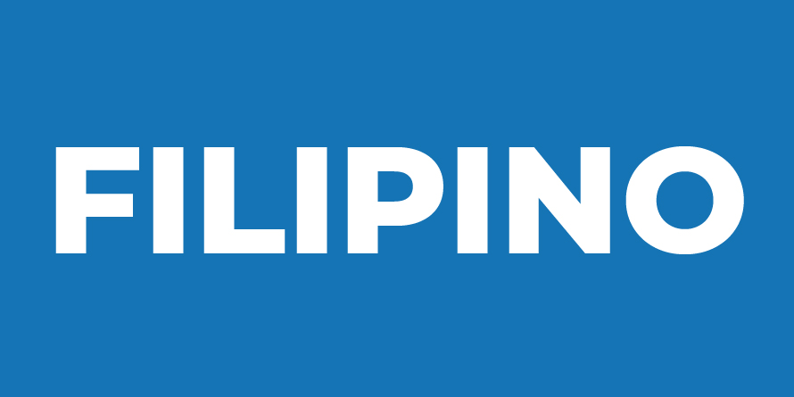 Links to the Filipino and Tagalog languages collections in the Library catalog