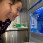 Girls looking at 3D Printer