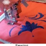 Sewing machine and fabric