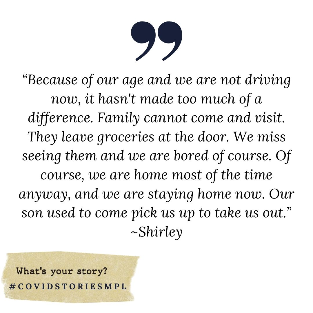 Covid Stories - Shirley