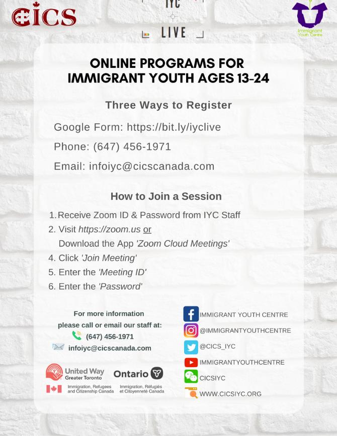 CICs flyer