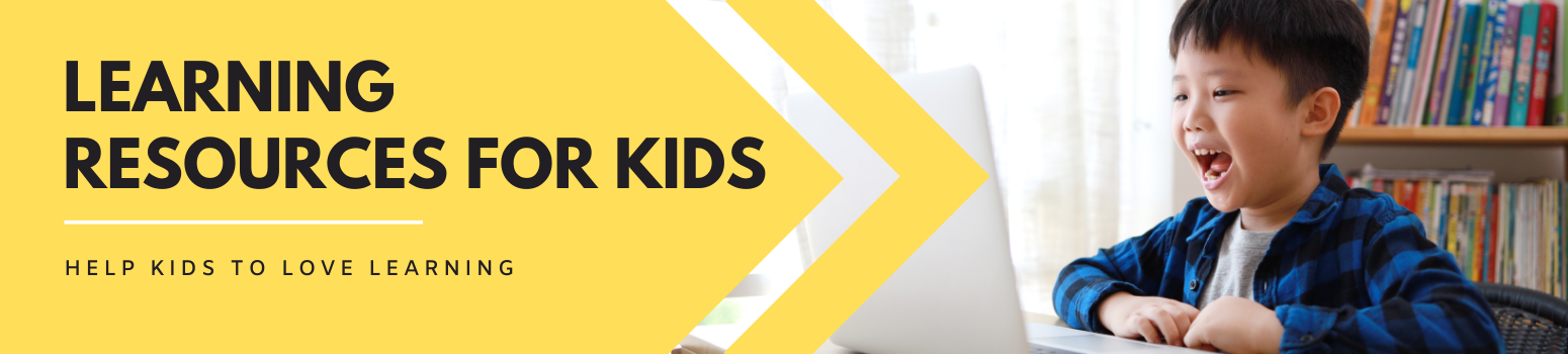 Learning Resources For Kids - landing page banner