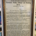 1897 Library Rules