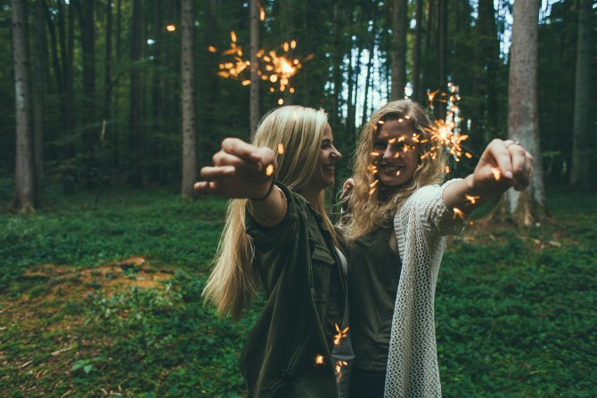 girls forest sparklers small