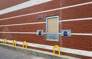 Anderson Branch Library's new drive-thru window