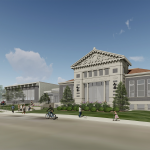 Walnut Hills branch library design rendering