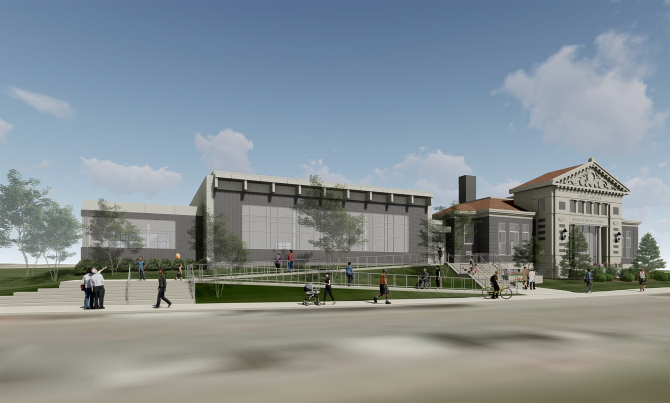 Walnut Hills addition exterior rendering