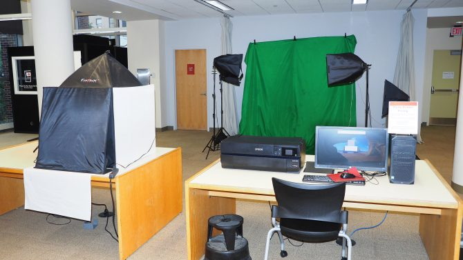 Photo of the photography/video station