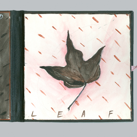 Portion of an Artists' Book Hand Leaf by Kate Kern from the Library's collection