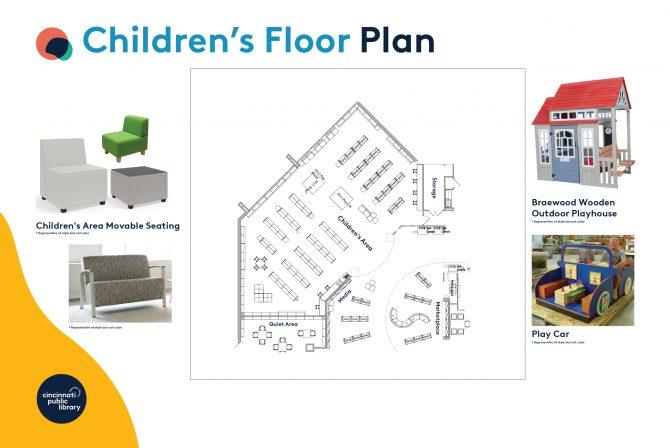 Anderson Branch Library children's area floor plan