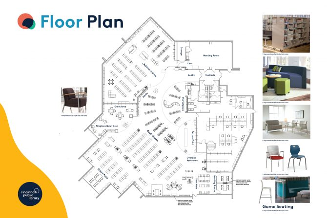Anderson Branch Library main area floor plan