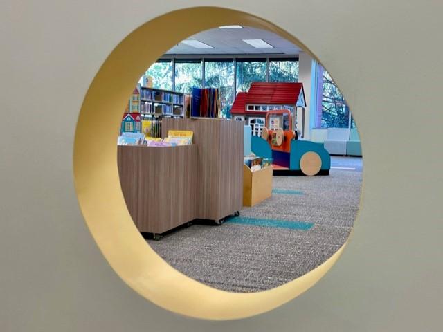 Interior window porthole for children's area