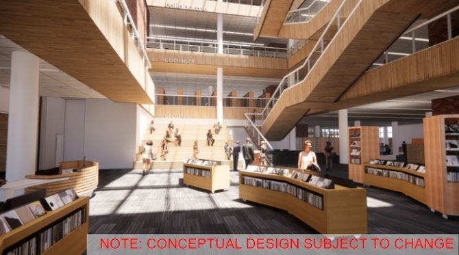 South Building concept - Conversation stairs