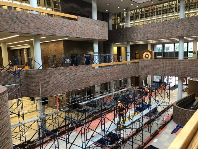 Scaffolding in South Building - July 2021
